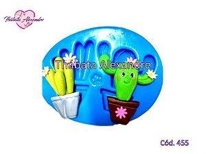 Molde de Silicone Cactos M