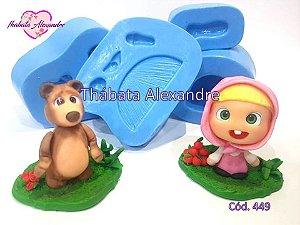 Molde de Silicone Masha e o Urso
