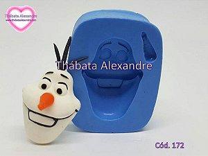Molde de Silicone Cabeça Olaf