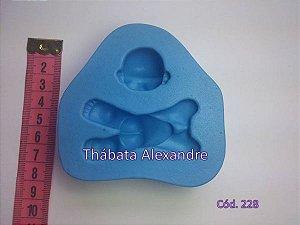 Molde de Silicone Bebê Deitado 3D