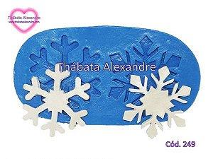 Molde de Silicone Floco de Neve C/ 2