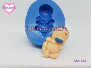 Molde de Silicone Bebê c/ Chupeta