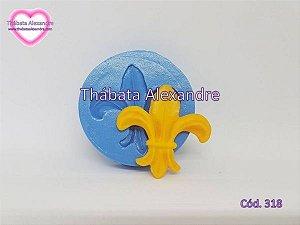Molde de Silicone Flor de Lis G