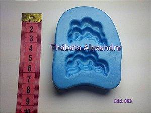Molde de silicone Cabelo Ondulado