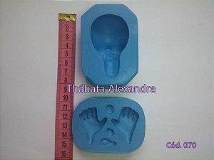 Molde de Silicone Rosto 3D e Mãos
