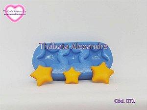 Molde de Silicone Kit 3 Estrelas