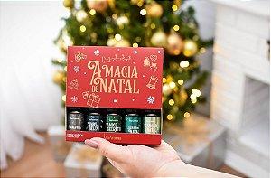 Kit com 5 essências A magia do Natal Vermelho - Via Aroma