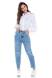 Calça Mom Jeans Com Cinto