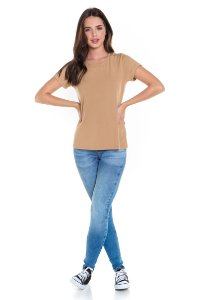 T-shirt Suede