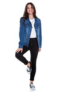 Jaqueta Over Jeans Escuro