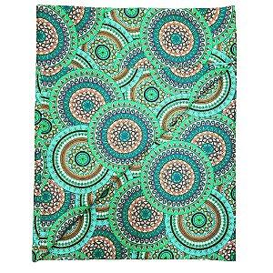 Trilho de Mesa Mandala Charlô Verde 45cmx1,50cm