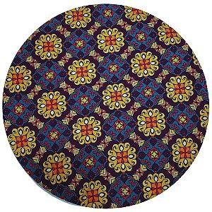 Kit 4 Capas para Sousplat Mandala Flor Charlô 35cmx35cm