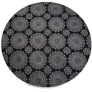 Kit 4 Capas para Sousplat Mandala Black Charlô 35cmx35cm