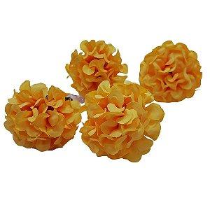 Kit 4 Porta Guardanapo Mimosa Crisântemo Amarelo