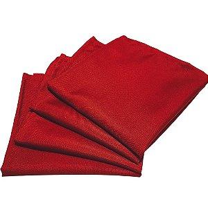 Box 20 Guardanapos de Tecido Oxford Vermelho 40cmx40cm