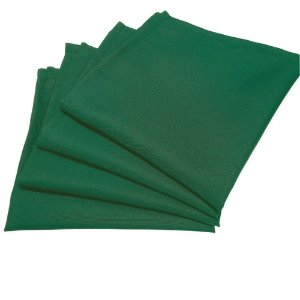 Box 20 Guardanapos de Tecido Oxford Verde Bandeira 40cmx40cm