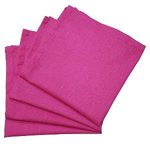 Box 20 Guardanapos de Tecido Algodão Pink 39cmx39cm