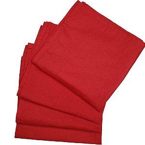 Box 20 Guardanapos de Tecido Algodão Vermelho 39cmx39cm
