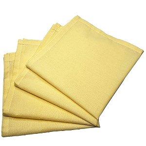 Box 20 Guardanapos de Tecido Algodão Amarelo Pastel 39cmx39cm