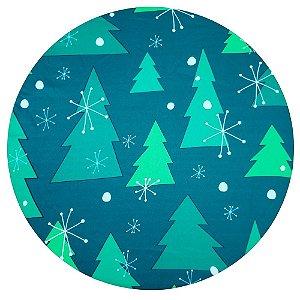Kit 4 Capas Sousplat Árvore de Natal Verde 35cmx35cm