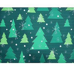 Kit 4 Jogos Americanos Árvore de Natal Verde 43CMX34CM