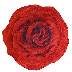Kit 4 Jogos Americanos 3D Botão de Rosa Vermelho Impermeável 40cmx40cm
