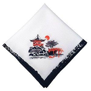 Kit 4 Guardanapos de Tecido Japão Sol Nascente 40cmx40cm