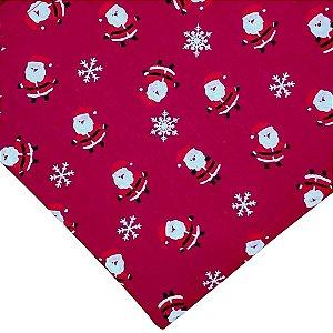 Kit 4 Guardanapos de Tecido Algodão Replica Papai Noel Vermelho 39cmx39cm