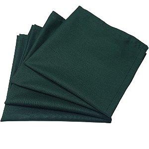 Kit 4 Guardanapos de Tecido Algodão Verde Escuro 39cmx39cm