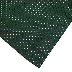 Kit 4 Guardanapos de Tecido Algodão Poá Verde Dourado 39cmx39cm