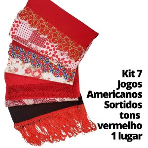 Kit 7 Jogos Americanos tons quentes 1 lugar