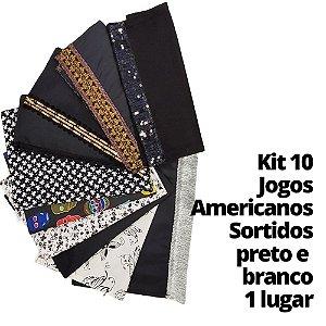 Kit 10 Jogos Americanos tons neutros 1 lugar