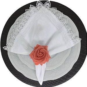 Porta Guardanapo Botão de Rosa EVA (Rosa Envelhecido) - 4 unidades