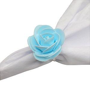 Porta Guardanapo Botão de Rosa EVA (Azul Bebê) - 4 unidades