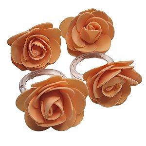 Porta Guardanapo Botão de Rosa EVA (Salmão) - 4 unidades