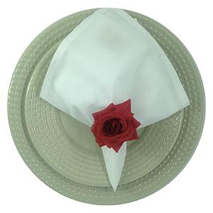 Porta Guardanapo Mini Botão de Rosa (Vermelho) - 4 unidades