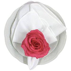 Porta Guardanapo Botão de Rosa Colombiana Pink da Charlô - 4 unidades