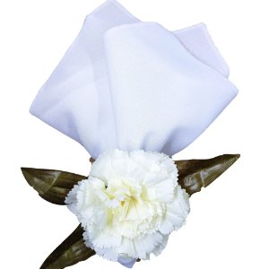 Porta Guardanapo Cravo Rosa Branco Delicado - 4 unds