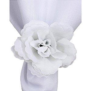 Porta Guardanapo Botão de Rosa Branco Silvestre - 4 unds