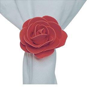 Porta Guardanapo Botão de Rosa EVA (Rosa Amor) - 4 unids