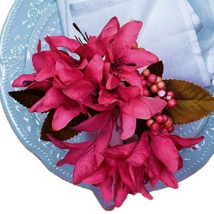 Porta Guardanapo Lírios da Maison Charlô (Pink) - 4 unidades