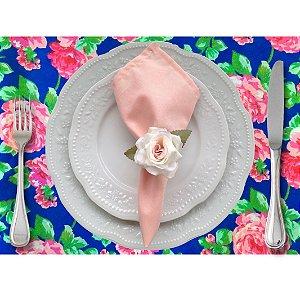 Jogo Americano Floral Celeste da Charlô - 4 unds