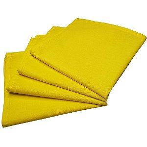 Guardanapo de Tecido Amarelo 32cmx32cm - 4 unidades