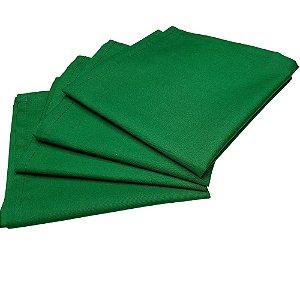 Guardanapo de Tecido Verde Bandeira 32cmx32cm - 4 unidades