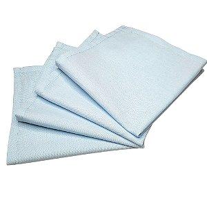 Guardanapo de Tecido Azul Bebê 32cmx32cm - 4 unidades