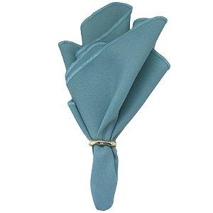 Guardanapo de Tecido Oxford Overloque Azul Turquesa 40cmx40cm - 4 unds