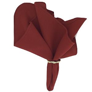 Guardanapo de Tecido Oxford Overloque Vermelho 40cmx40cm - 4 unidades