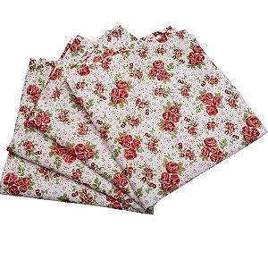 Guardanapo de Tecido Floral Brasil I 32cmx32cm - 4 unidades