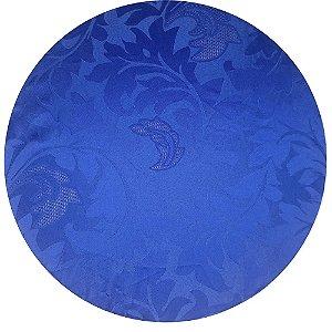 Kit 4 Capas para Sousplat Jacquard Azul Royal da Charlô 35cmx35cm