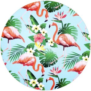 Kit 4 Capas para Sousplat Flamingo II da Charlô 35cmx35cm com base mdf